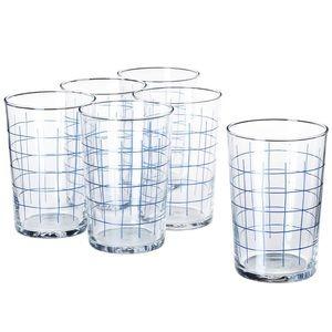 Set of 6 Checkered Glasses NWT